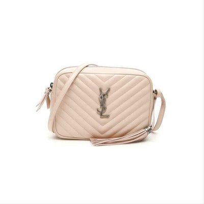 Saint Laurent Monogram Lou Camera Marble Pink Leather Shoulder Bag
