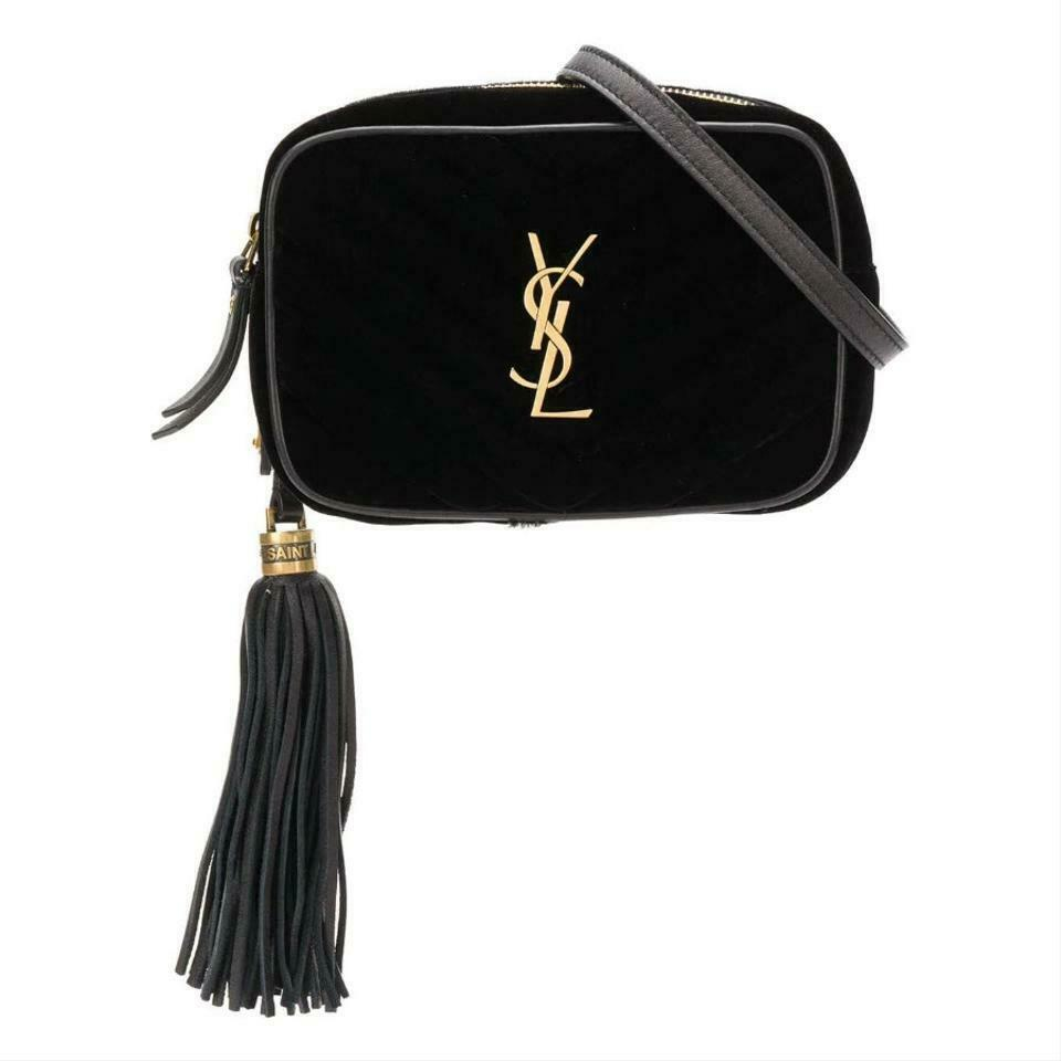 Saint Laurent Monogram Lou Camera Belt Quilted Leather Black Velvet Cross Body