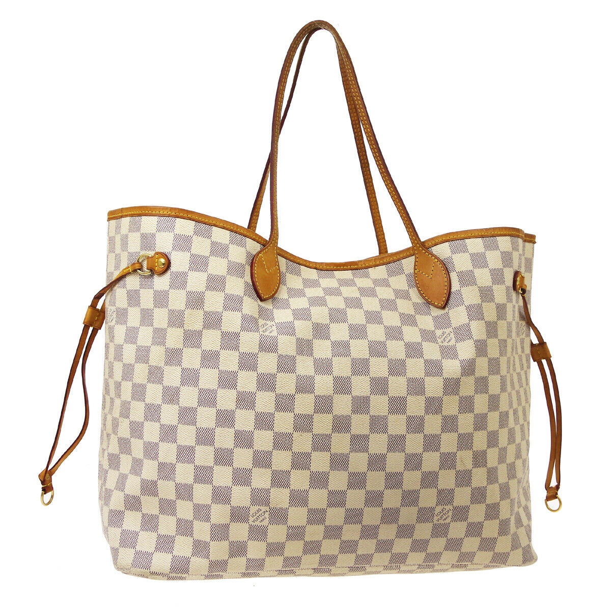 Louis Vuitton Neverfull Damier Azur Gm White Canvas Tote