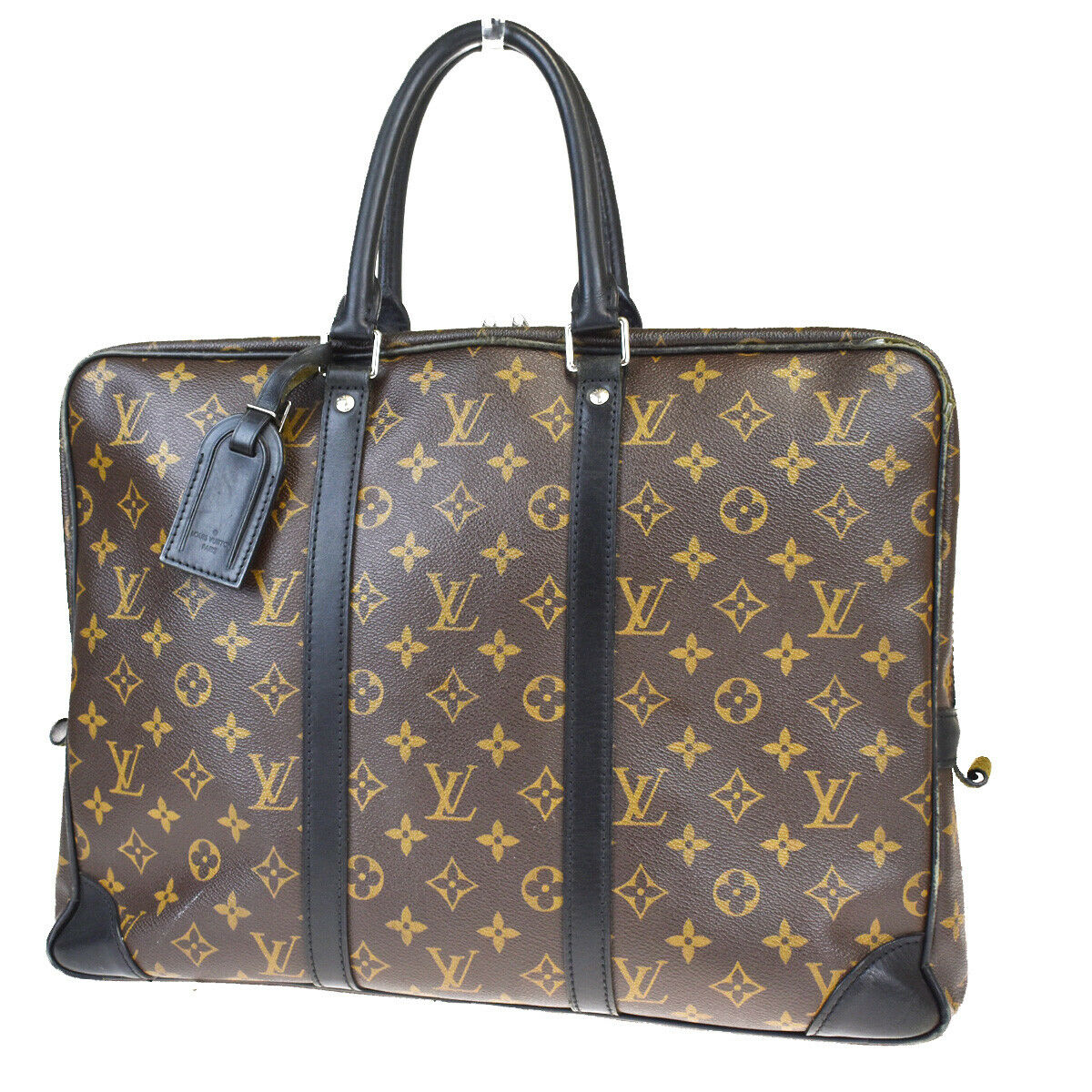 LOUIS VUITTON Monogram Macassar Porte-Documents Voyage PM