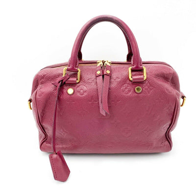 Louis Vuitton Speedy Bandouliere 25 Aurore Red Monogram Empreinte Duffle
