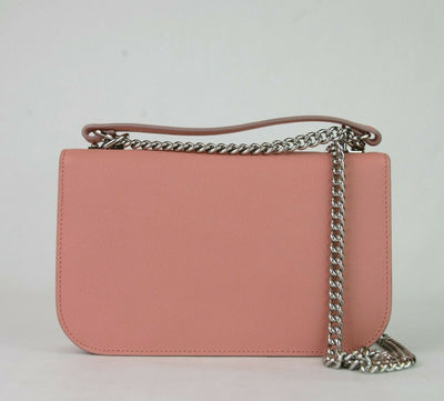 Alexander Mcqueen Insignia Leather Chain Satchel Petal Pink Chain
