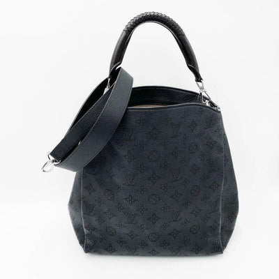 Louis Vuitton Babylone Pm Black Mahina Leather Shoulder Bag