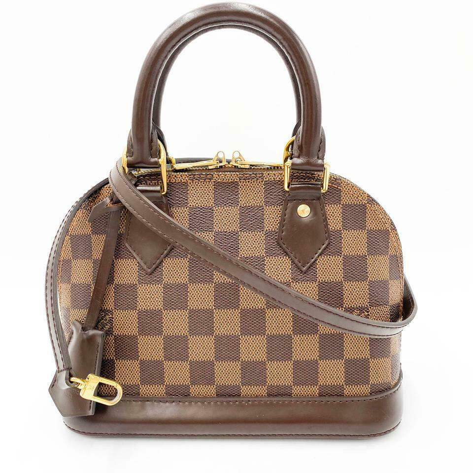 Louis Vuitton Alma Bb Brown Damier Ébène Canvas Shoulder Bag