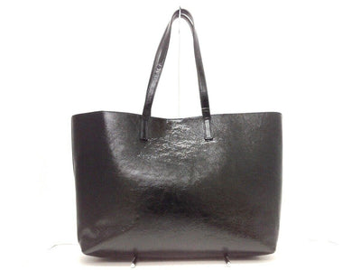 Saint Laurent Bag Shopping Calfskin Large Black Patent Leather Tote