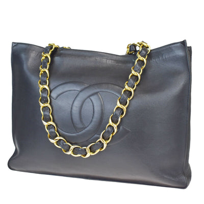 CHANEL Vintage chain GST Shopper smooth leather Tote
