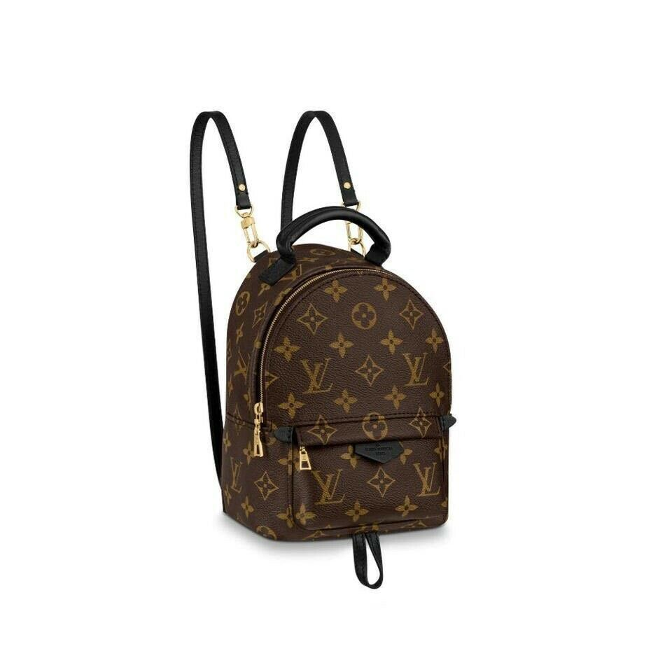 Louis Vuitton Palm Springs Monogram Mini 2020 Brown Coated Canvas Backpack