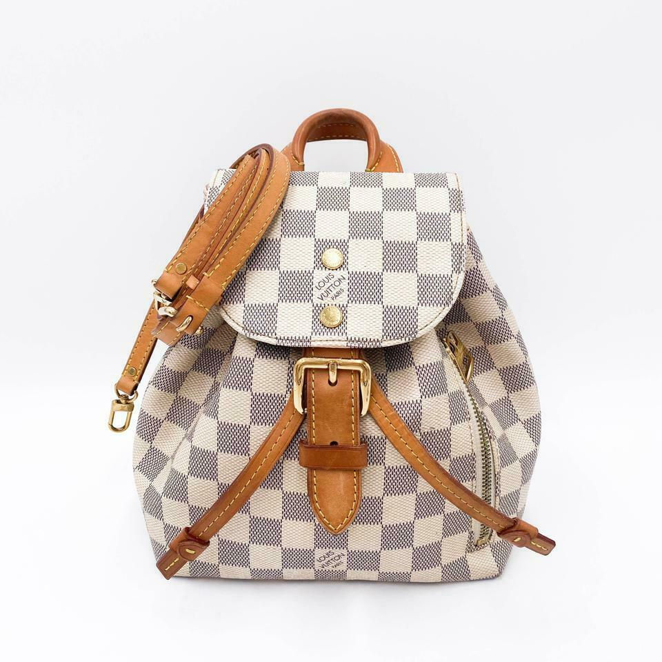 Louis Vuitton Backpack Sperone Bb White Damier Azur Canvas Shoulder Bag