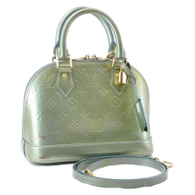 LOUIS VUITTON Vernis Alma BB 2Way Hand Bag Grial Deco