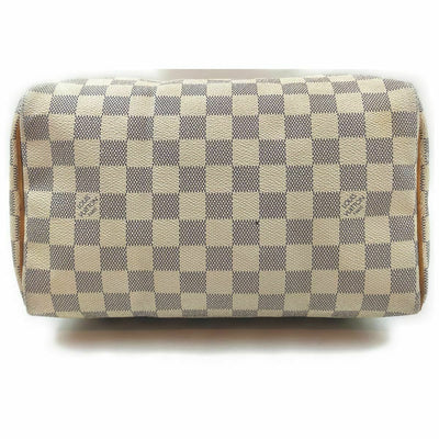 Louis Vuitton Speedy Damier Azur 25 White Canvas Satchel