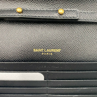 Saint Laurent Chain Wallet Medium Woc Monogram Black Leather Crossbody GHW