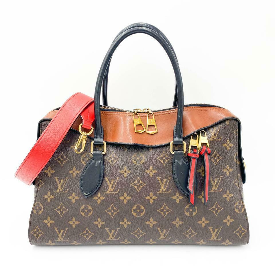 Louis Vuitton Tuileries Caramel Rouge Brown Monogram Canvas Shoulder Bag