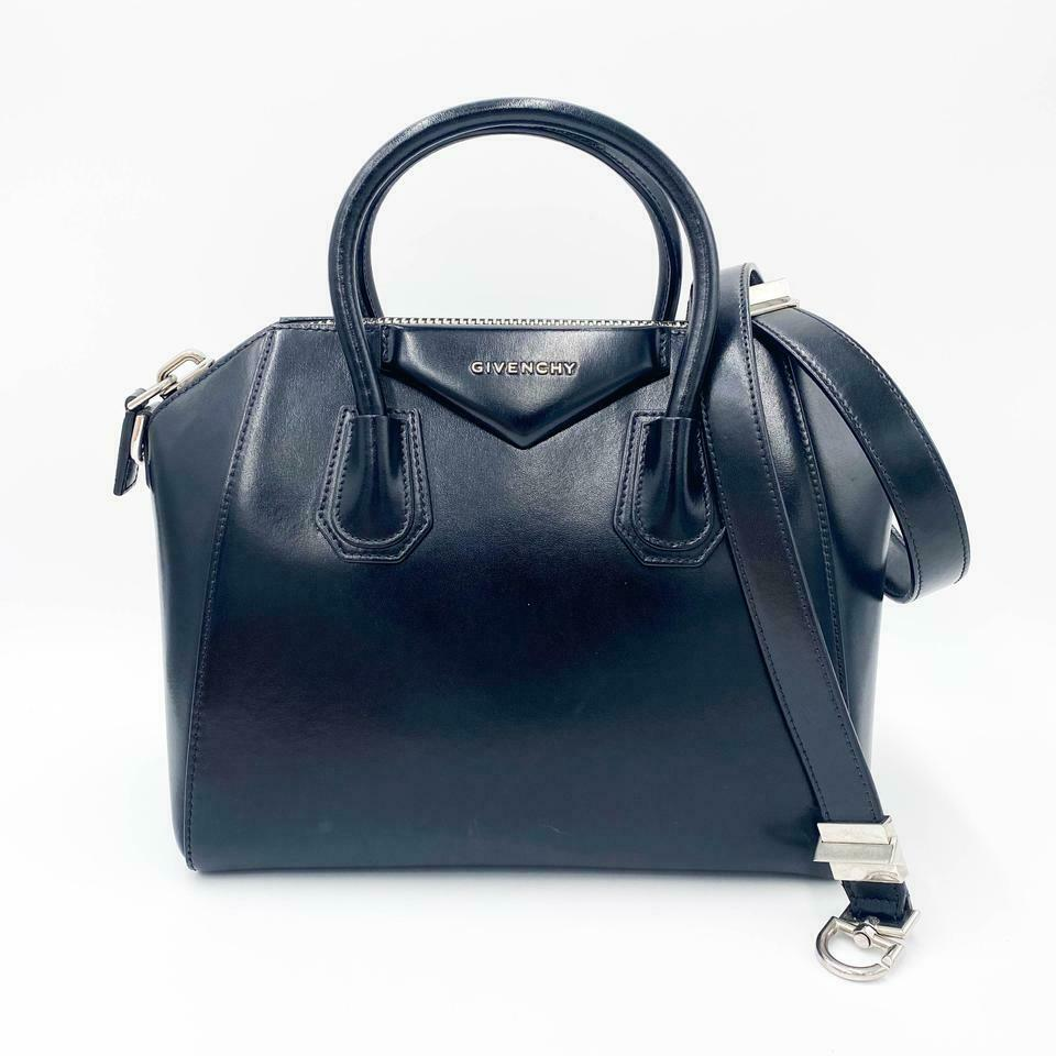 Givenchy Shiny Lord Calfskin Small Antigona Black Leather Shoulder Bag