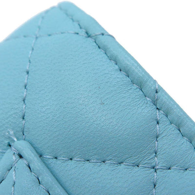 Chanel Lambskin Quilted Wallet on Chain Blue WOC Light Blue