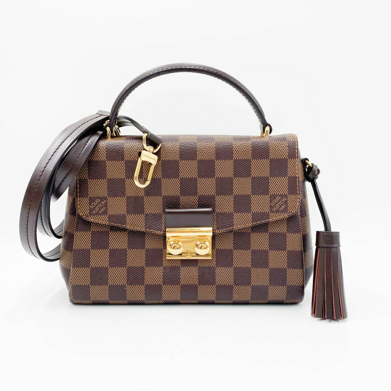 Louis Vuitton Croisette Brown Damier Ébène Canvas Shoulder Bag $1890 Crossbody