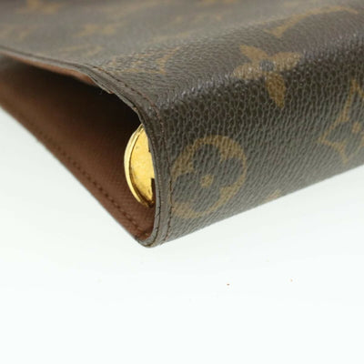 Louis Vuitton Brown Monogram Medium Ring Agenda Cover Wallet