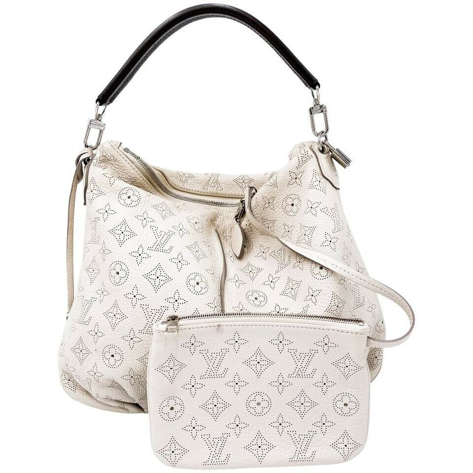 Louis Vuitton Selene Pm Sandy Grey Mahina Leather Shoulder Bag