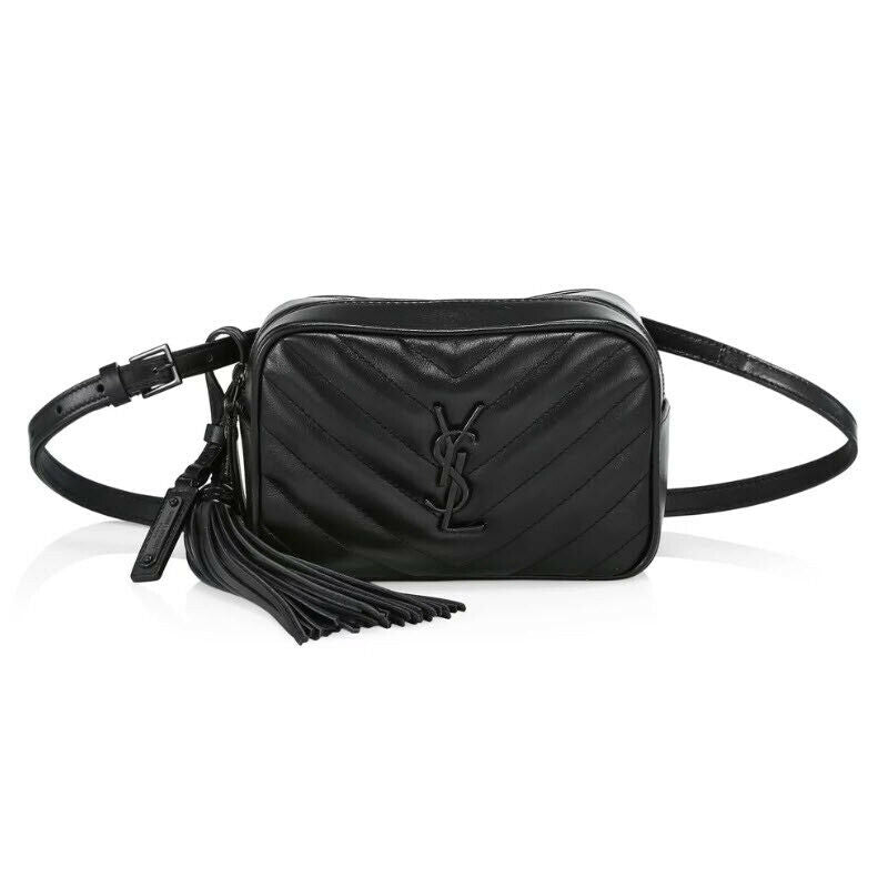 Saint Laurent Monogram Lou Camera Belt Quilted Leather Black Cross Body Loulou