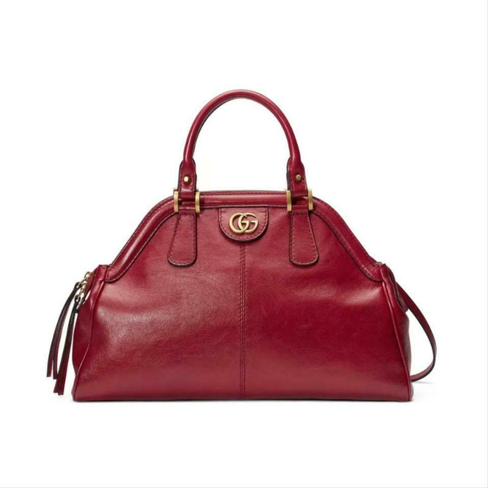 Gucci Top Handle Medium Re(Belle) Satchel Red Leather Shoulder Bag