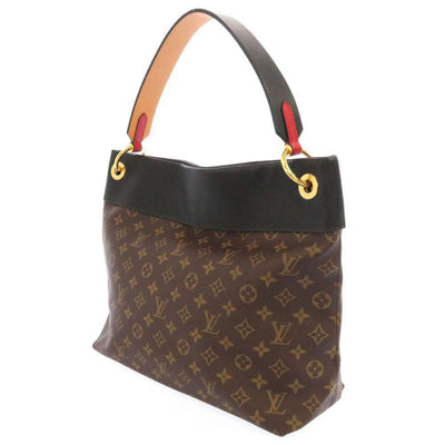 LOUIS VUITTON Monogram Tuileries Hobo Black