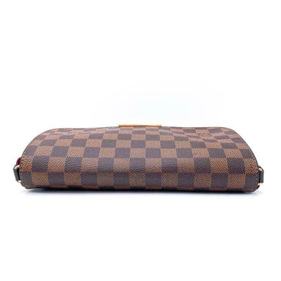 Louis Vuitton Favorite Mm Brown Damier Ébène Canvas Shoulder Bag
