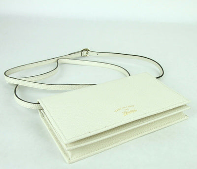 Gucci Women's Creamy White Swing Leather Crossbody Clutch Wallet