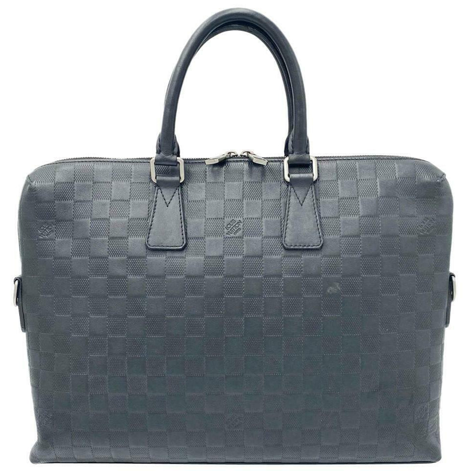 Louis Vuitton Porte Porte-documents Black Damier Infini Leather Laptop Bag