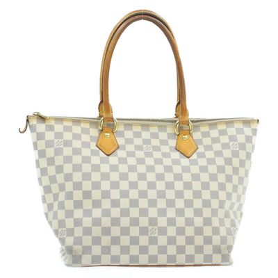 LOUIS VUITTON Damier Azur Saleya MM Shoulder Tote Bag N51185