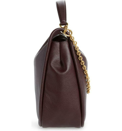 Mulberry Leighton Burgundy Oxblood Red Leather Hobo Bag