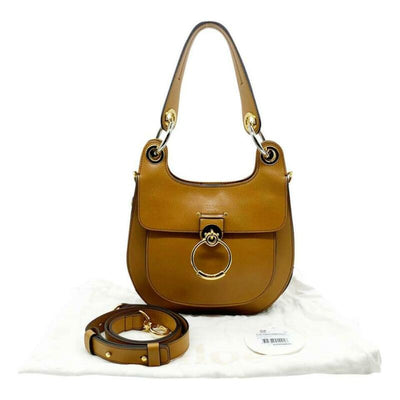 Chloé Medium Tess Brown Leather Shoulder Bag