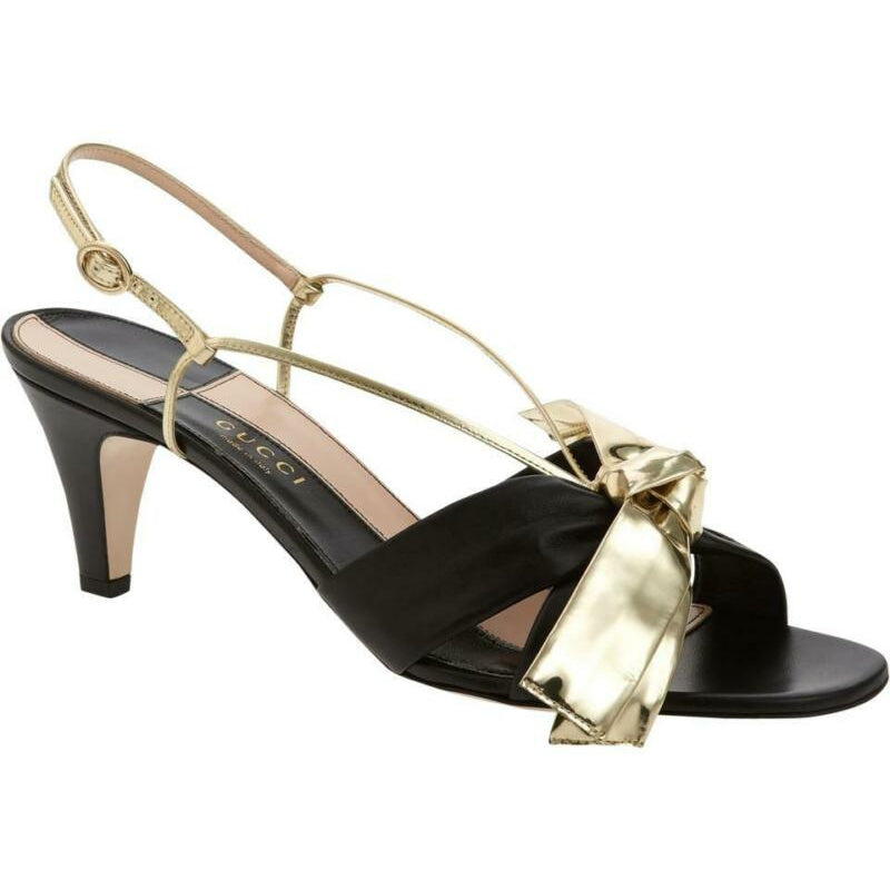 Gucci Black Daphne Bow Slingback Sandals