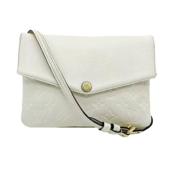 Louis Vuitton Twice White Monogram Empreinte Leather Cross Body Bag