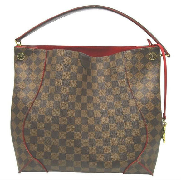 Louis Vuitton Caïssa 2016 Damier Ebene Cerise Cherry Brown Coated Canvas Hobo