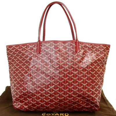 Goyard Saint Louis Pm Red Coated Canvas Tote