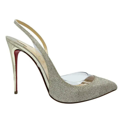 Christian Louboutin Gold Optisexy Glitter Slingback Pumps