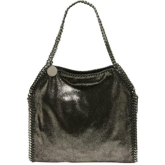 Stella McCartney Small Falabella Tote Ruthenium Black Faux Leather Shoulder Bag