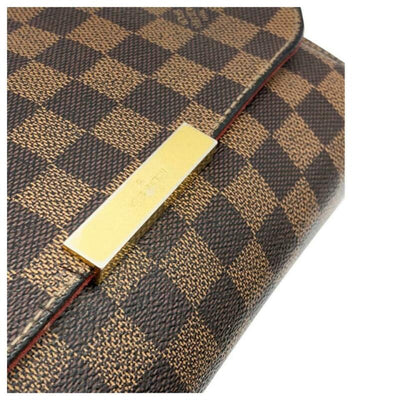 Louis Vuitton Favorite Mm Brown Damier Ébène Canvas Cross Body Bag