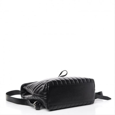 Saint Laurent Monogram Loulou Calfskin Matelasse Medium Monogram Black Leather
