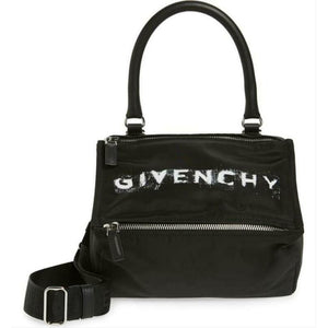 Givenchy Small Pandora Satchel Black Nylon Cross Body Bag