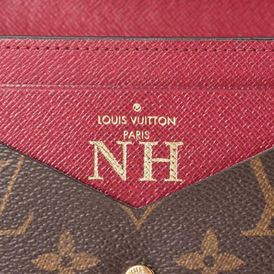 Louis Vuitton Brown Monogram Jeanne Fuchsia Wallet