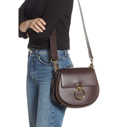 Chloé Medium Tess Calfskin Brown Leather Shoulder Bag