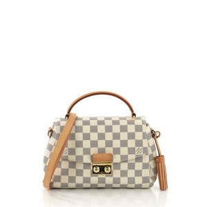 Louis Vuitton Croisette Tassel 2018 White Damier Azur Canvas Cross Body Bag