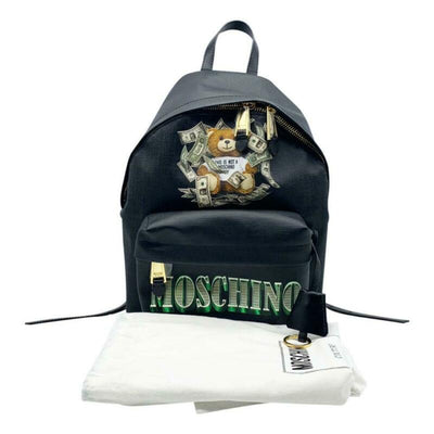 Moschino Money Teddy Black Polyurethane Backpack