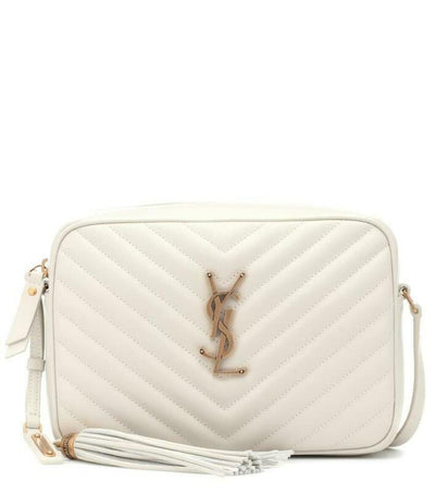 Saint Laurent Monogram Camera Lou Matelassé Crema Soft White Leather Cross Body