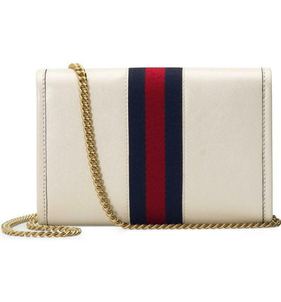 Gucci Shoulder Mini Rajah White Leather Cross Body Bag