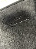 Chloé Milo Medium Suede Black Leather Tote
