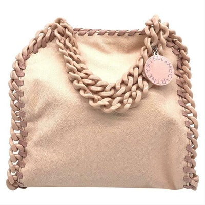 Stella McCartney Mini Falabella Shaggy Deer Tote Pink Faux Leather Cross Body