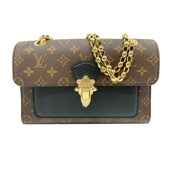 Louis Vuitton Victoire Noir Chain 2019 Black Monogram Canvas and Calfskin