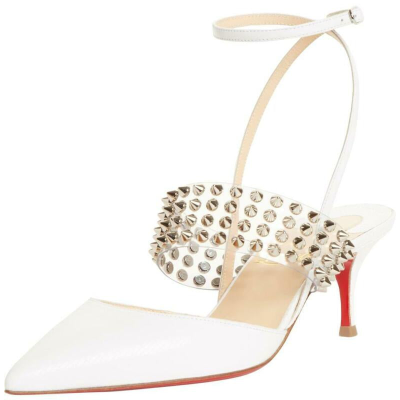 Christian Louboutin White Levita Pumps