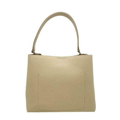MCM Sarah Diamond Visetos Beige Leather Tote